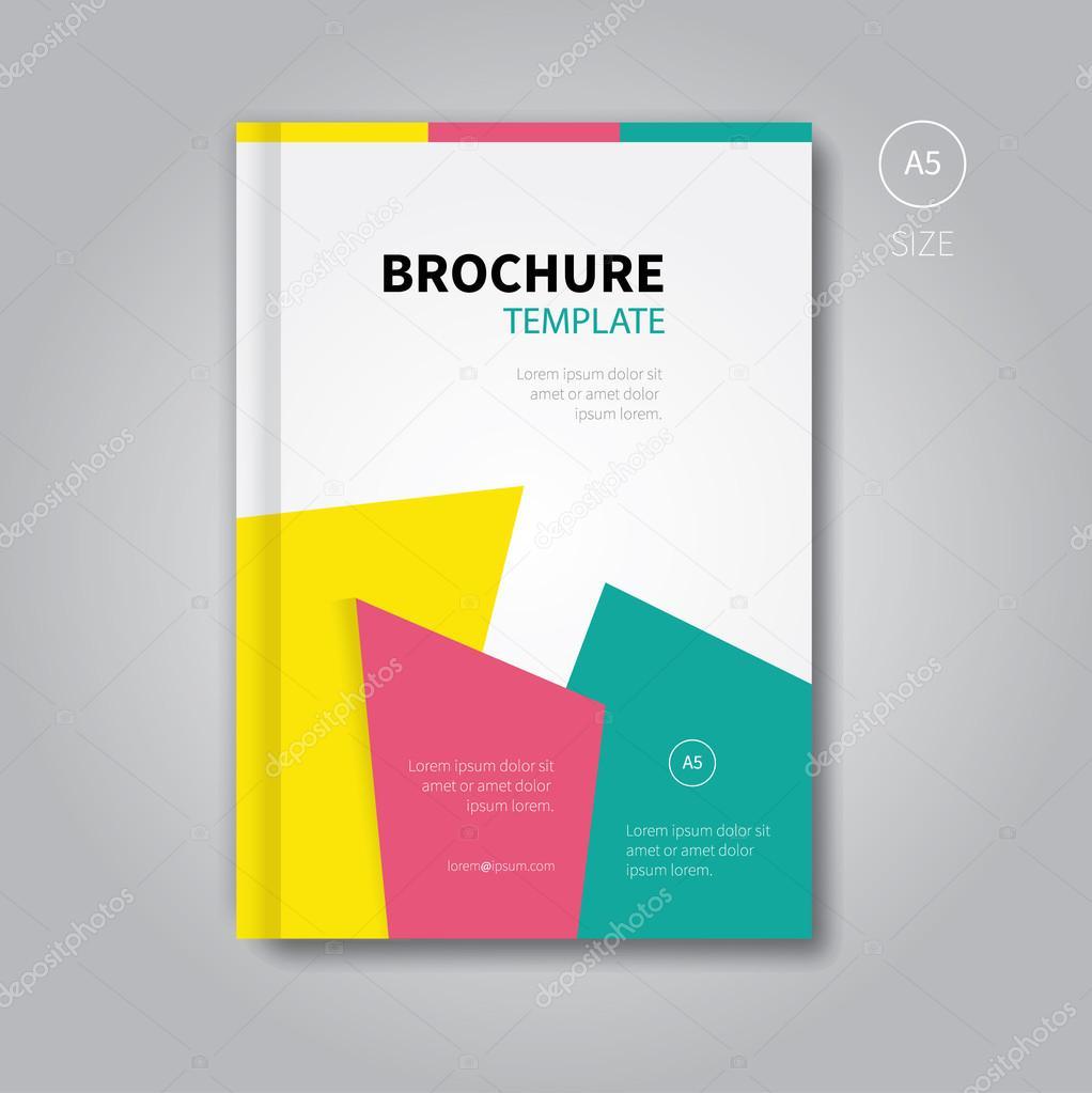 abstrakte Broschüre oder Buch Cover-Vorlage — Stockvektor ...