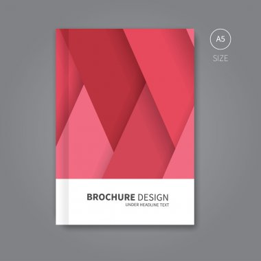 Vector book cover template design