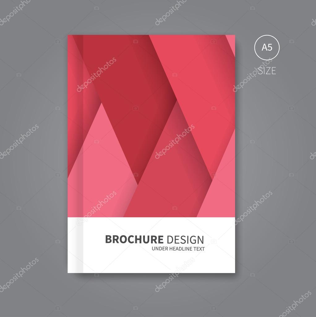 Book Cover Design Template Vector Illustration : Vector book cover template design — stock
