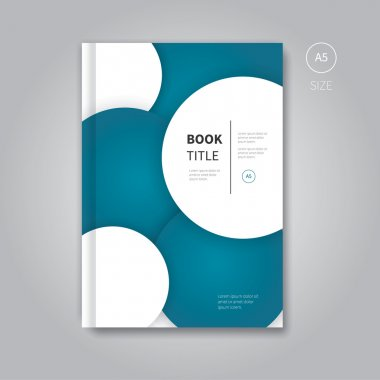 modern brochure flyer with circles