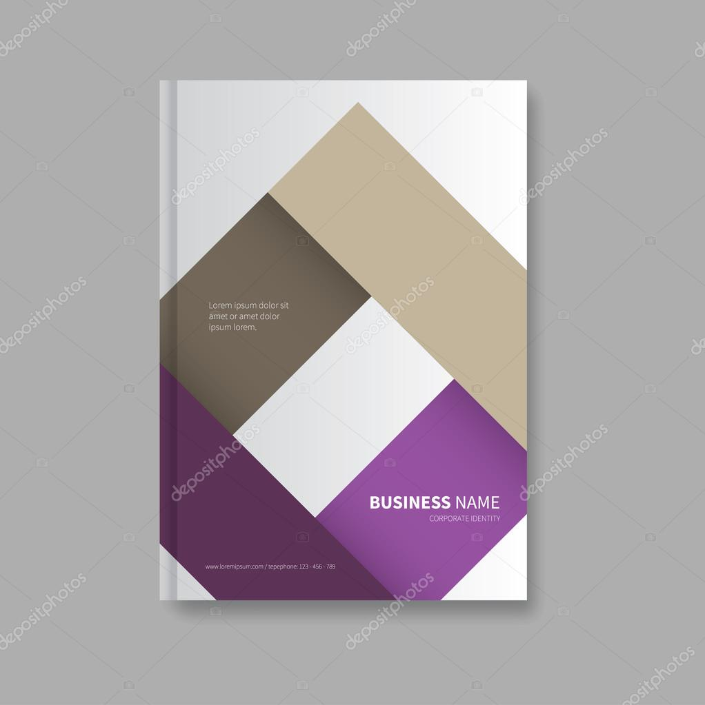 professionelle Buch Design-Vorlage — Stockvektor © Phillipes #99711320