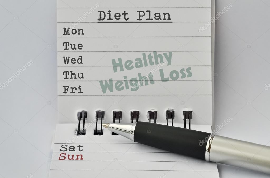 Dieta Settimanale Per Dimagrire : Piano di dieta settimanale u foto stock benjaminec