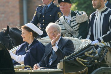 The swedish king and queen