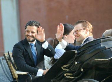 The swedish prince Carl-Filip Bernadotte and prince Daniel Westl