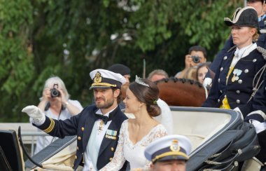 The swedish Prince Carl-Philip Bernadotte and his wife