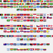 Fotografie Flags of the world, all sovereign states recognized by UN, collection, listed alphabetically by continents, eps 10