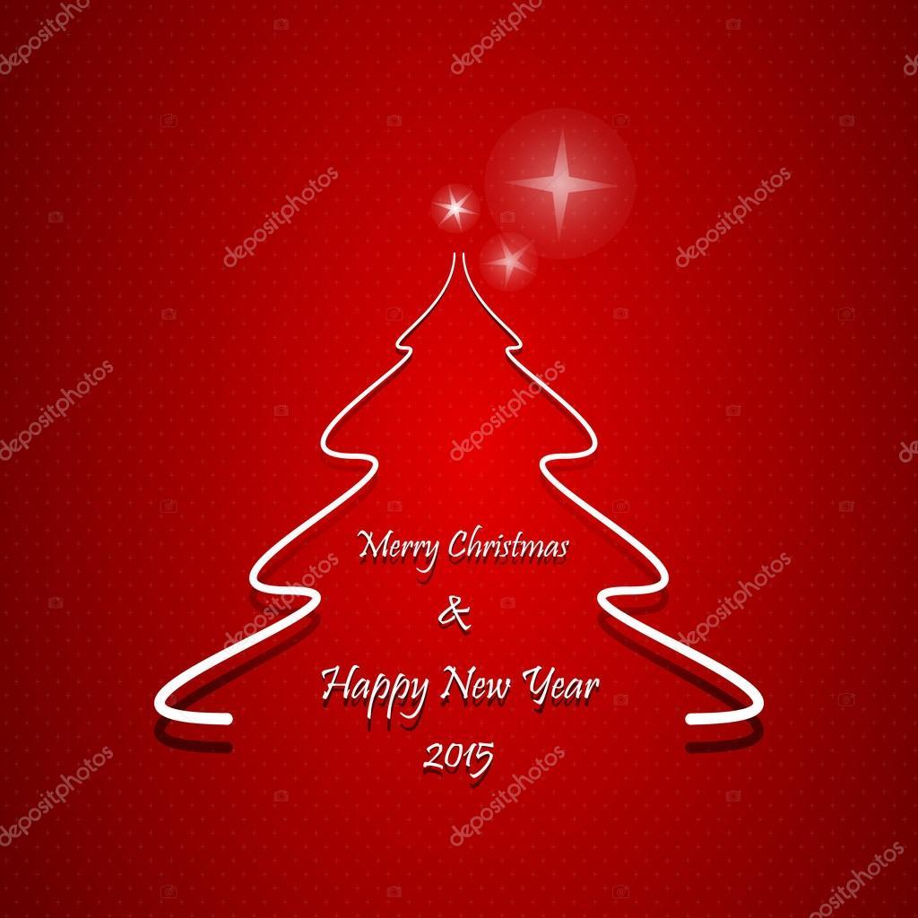 Weihnachten Grußkarte, abstrakter Weihnachtsbaum mit Frohe ...