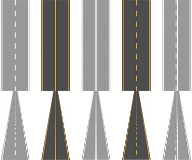 Asphalt roads, with traffic surface marking lines