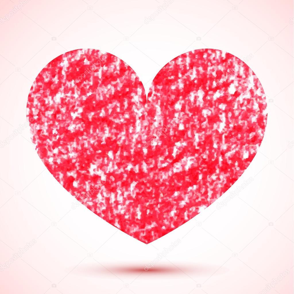 Kreslene Tuzkou Pruhovane Cervene Srdce Stock Vektor C Altelia