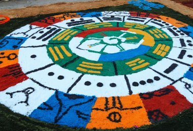 Colourful carpets - Holy week - El Salvador