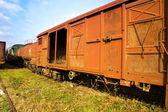 Fotografie alte Eisenbahnwaggons
