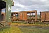 alte Eisenbahnwaggons