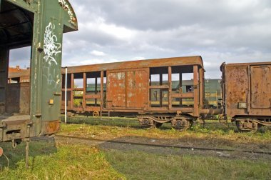Old railway wagons