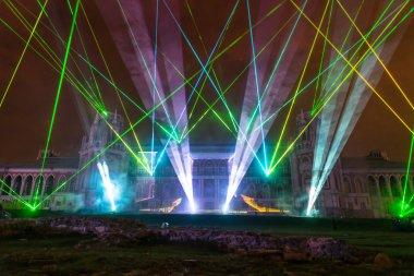 Tsaritsyno. Moscow. International festival The Circle of Light.