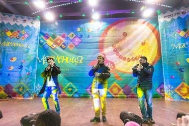 Maslenitsa (pancake week). The performance of musical-group the Prime Minister.