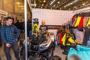 Motopark-2015 (BikePark-2015). The exhibition stand of ATVs and equipment to them.