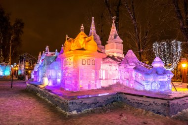 Ice sculpture. Terem. Fairy Tales of Pushkin.
