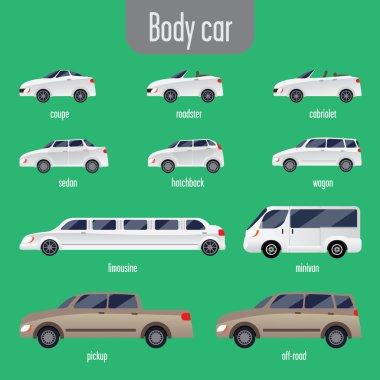 set of car bodies