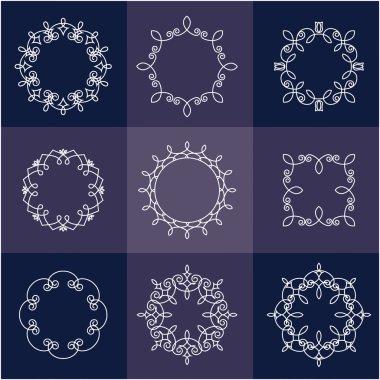 Collection of nine monograms