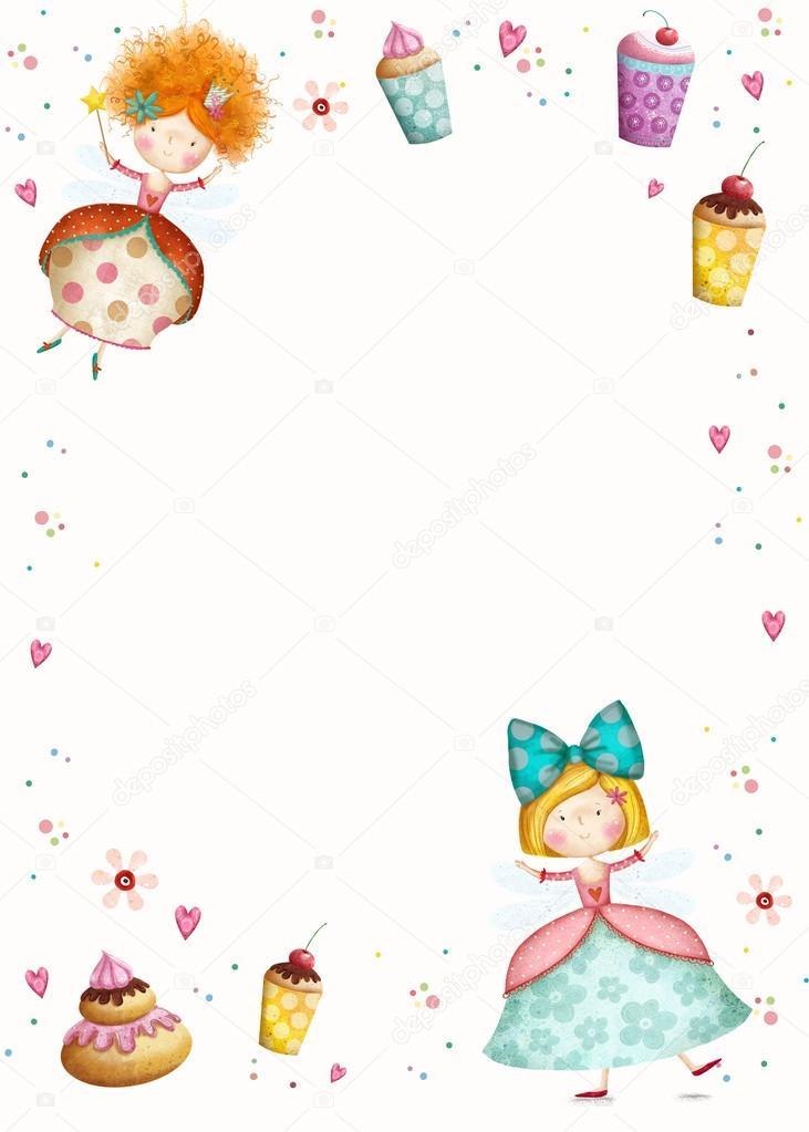 Feliz aniversrio invitationrty convite princesas pequenas feliz aniversrio invitationrty convite princesas pequenas bonitos com flores de cupcakes coraes stopboris Choice Image