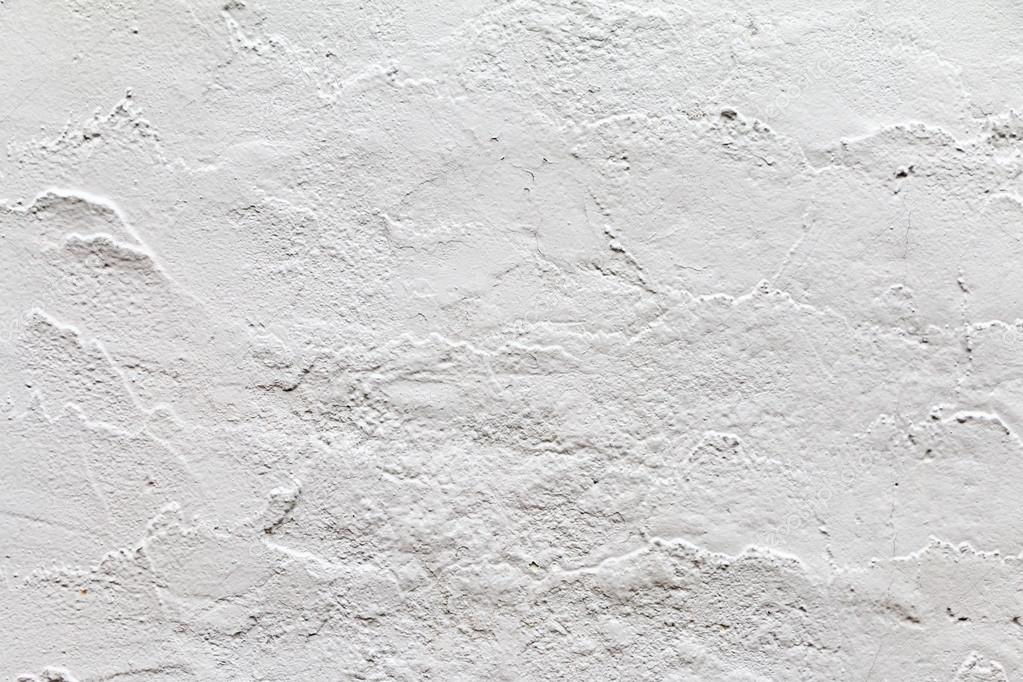 White painted concrete wall texture and background Stock Photo