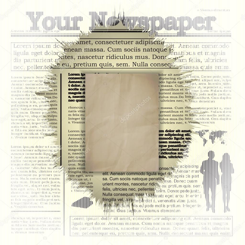 Zeitung Hintergrund Rahmen — Stockvektor © Yegen_Kachurin #101439016