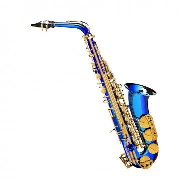 saxophone premium blue