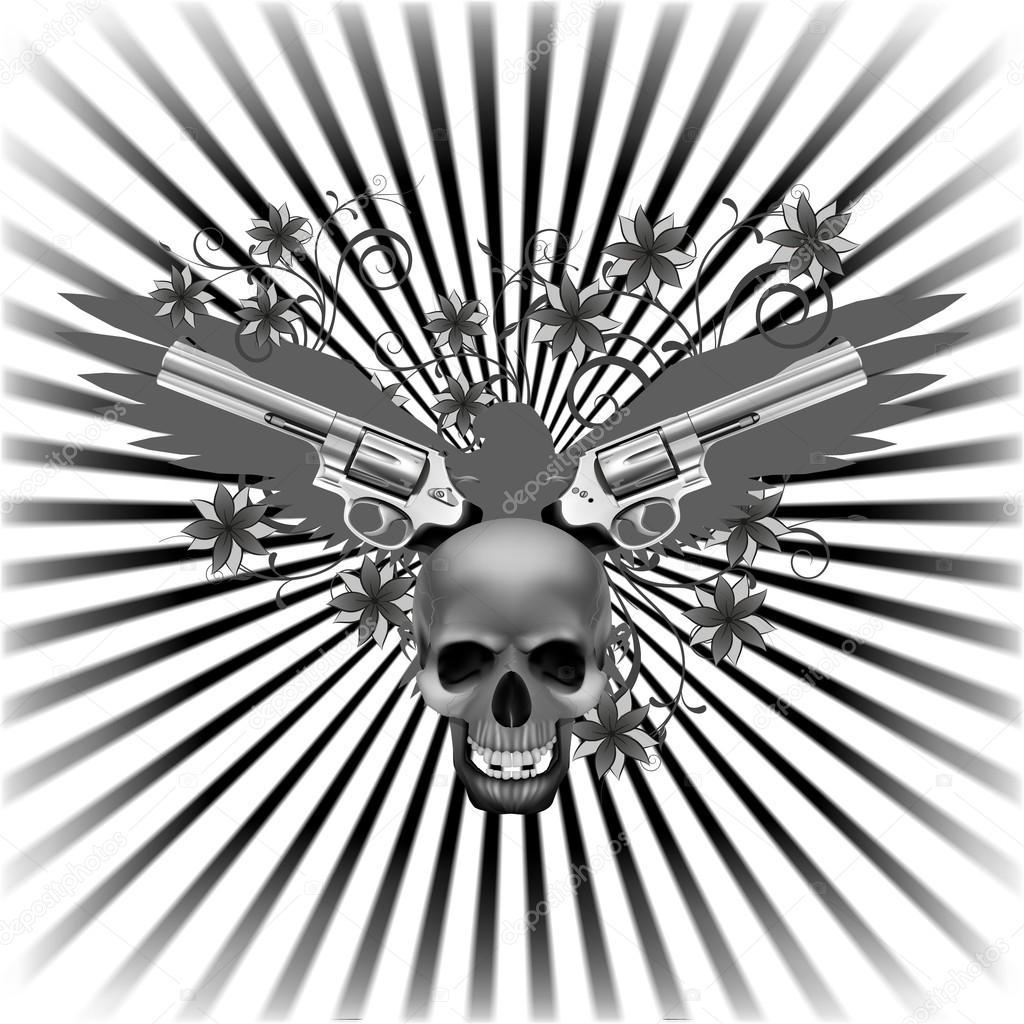 Imágenes Calaveras Con Armas Con Movimiento águila De Fondo Con