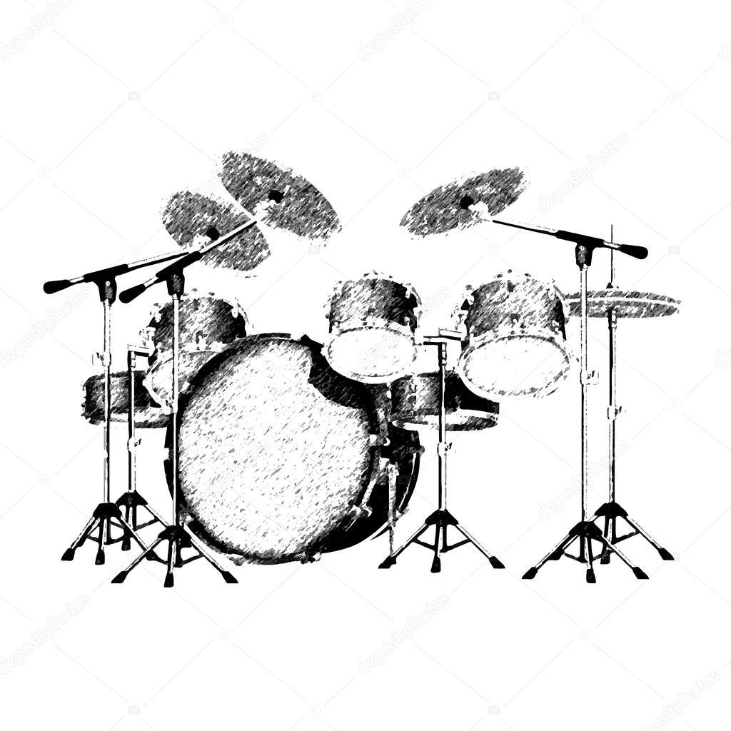 Drum Set Drawing