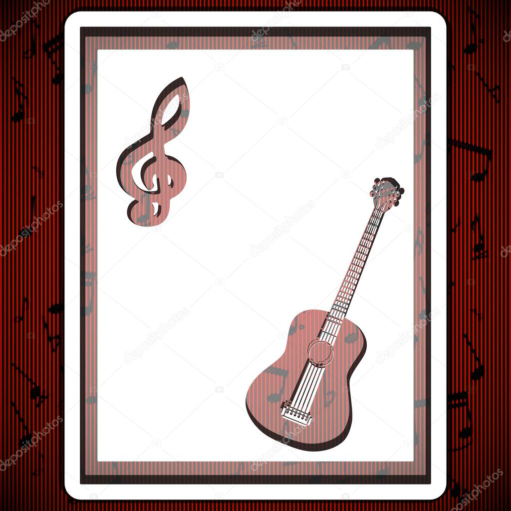 Guitarra música de fondo — Archivo Imágenes Vectoriales ...
