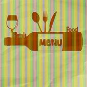 Restaurace menu jídlo a pití