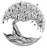 Strom života na bílém pozadí