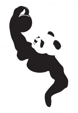 Panda lifting weight
