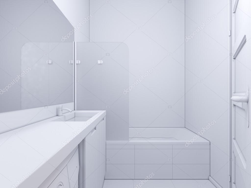 3d illustratie van interieur design badkamer stockfoto