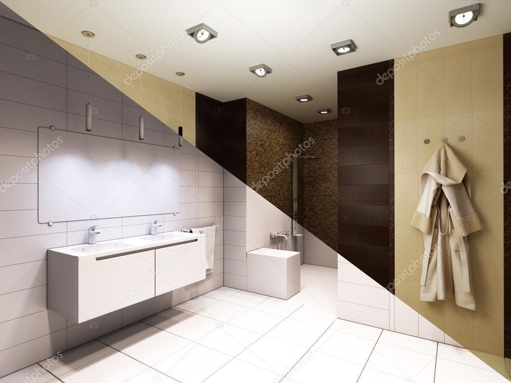 Design Bagno Con Doccia : Illustrazione 3d dellinterior design di un bagno con doccia u2014 foto