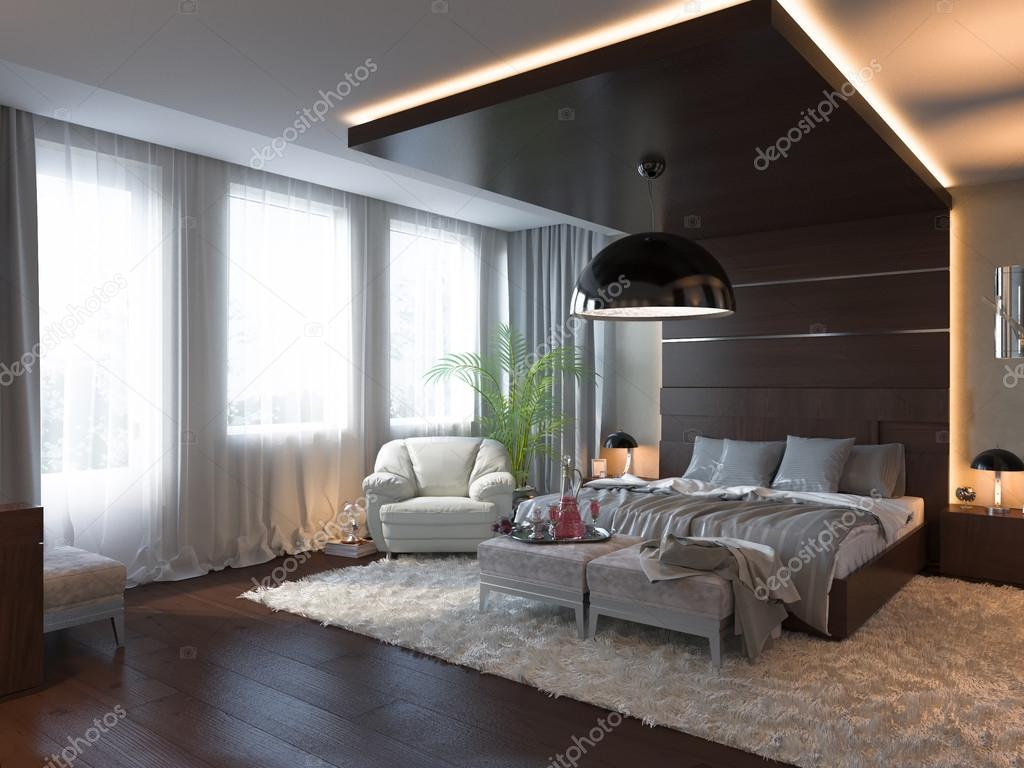 3d render quarto de design de interiores em estilo for Diseno de interiores diseno contemporaneo