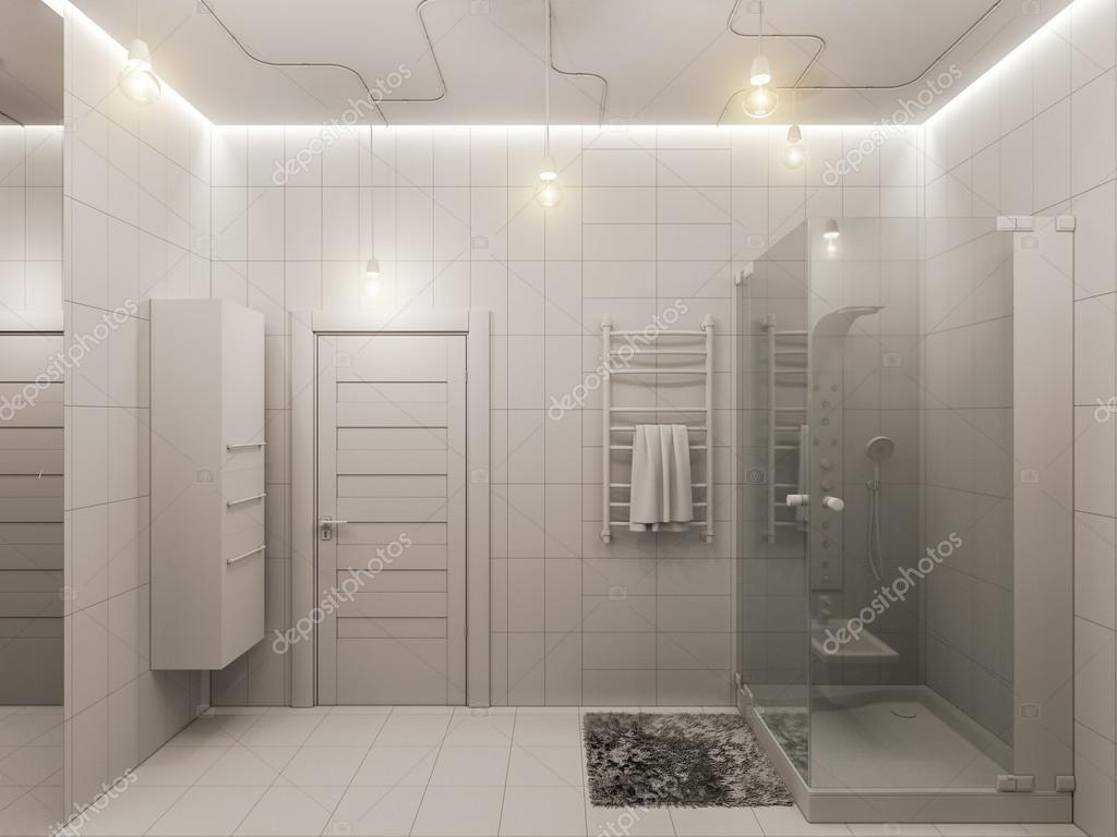 render 3d de un diseño interior de baño para niños — foto de stock