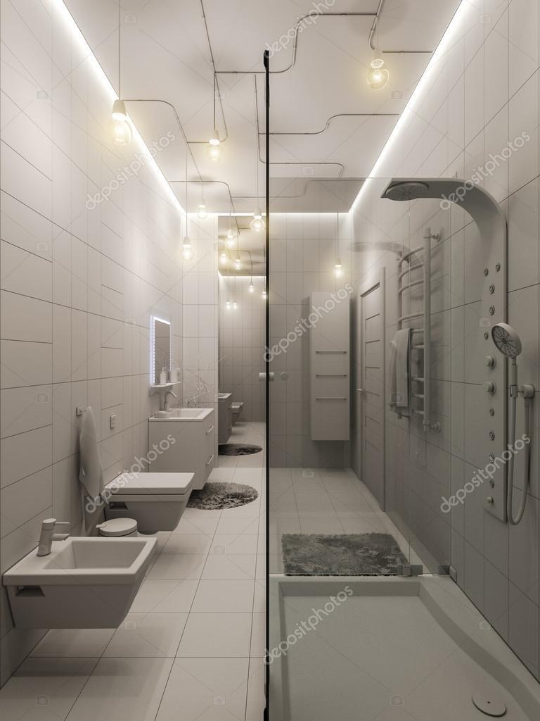 3D Rendering ein Bad-Interieur-Design für Kinder — Stockfoto ...