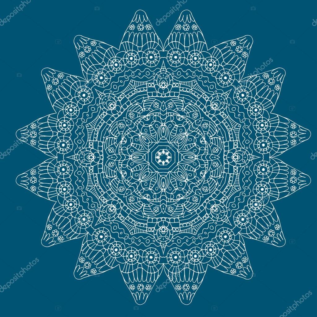 Ilustración de vector de una repetición sin costura crochet patrón ...