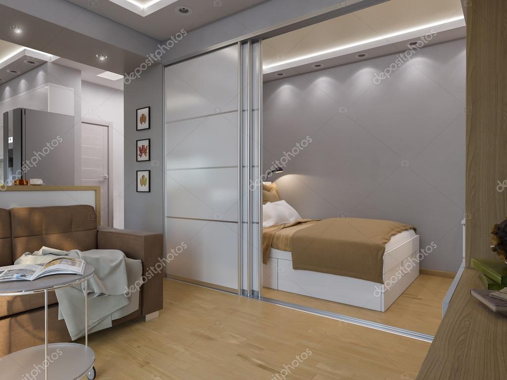 фото дизайн комнаты спальня гостиная 3d визуализация гостиной и