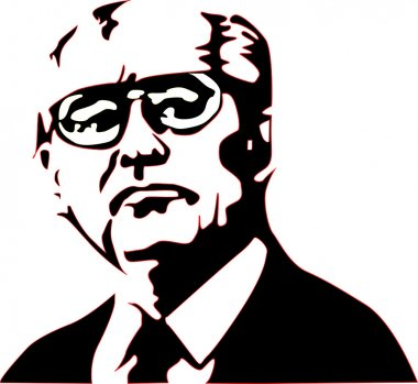 Mikhail Gorbachev in vector