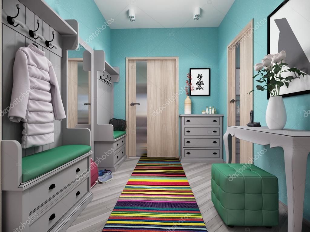 D illustratie van kleine appartementen in pastel kleuren