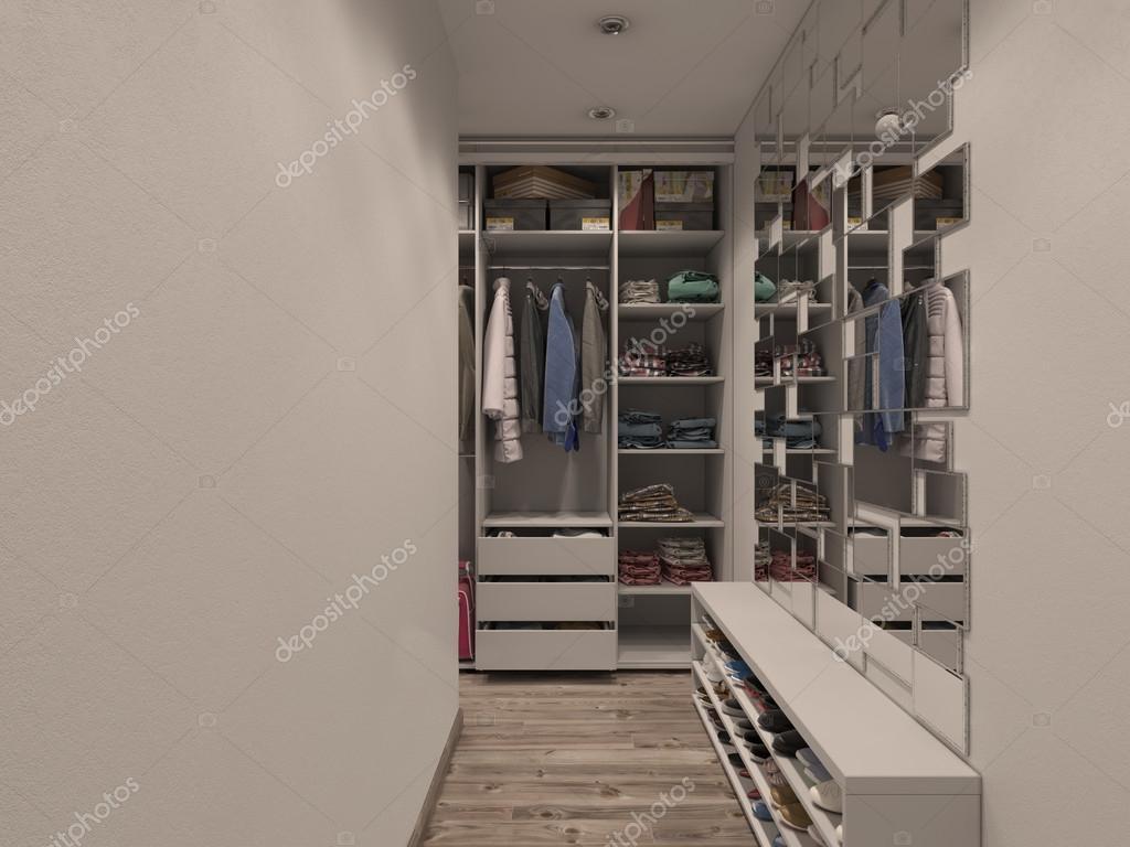 3D Render Der Schrank Zimmer In Hellen Farben U2014 Foto Von Richman21