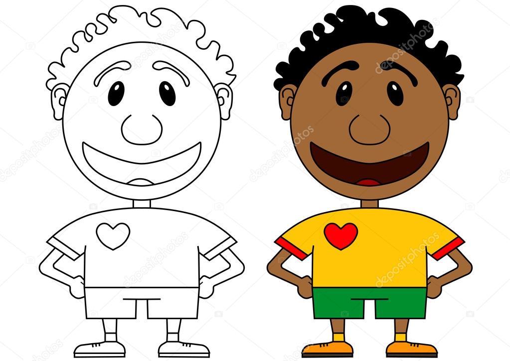 Imágenes: jovenes jugando futbol para colorear | Ilustración del ...