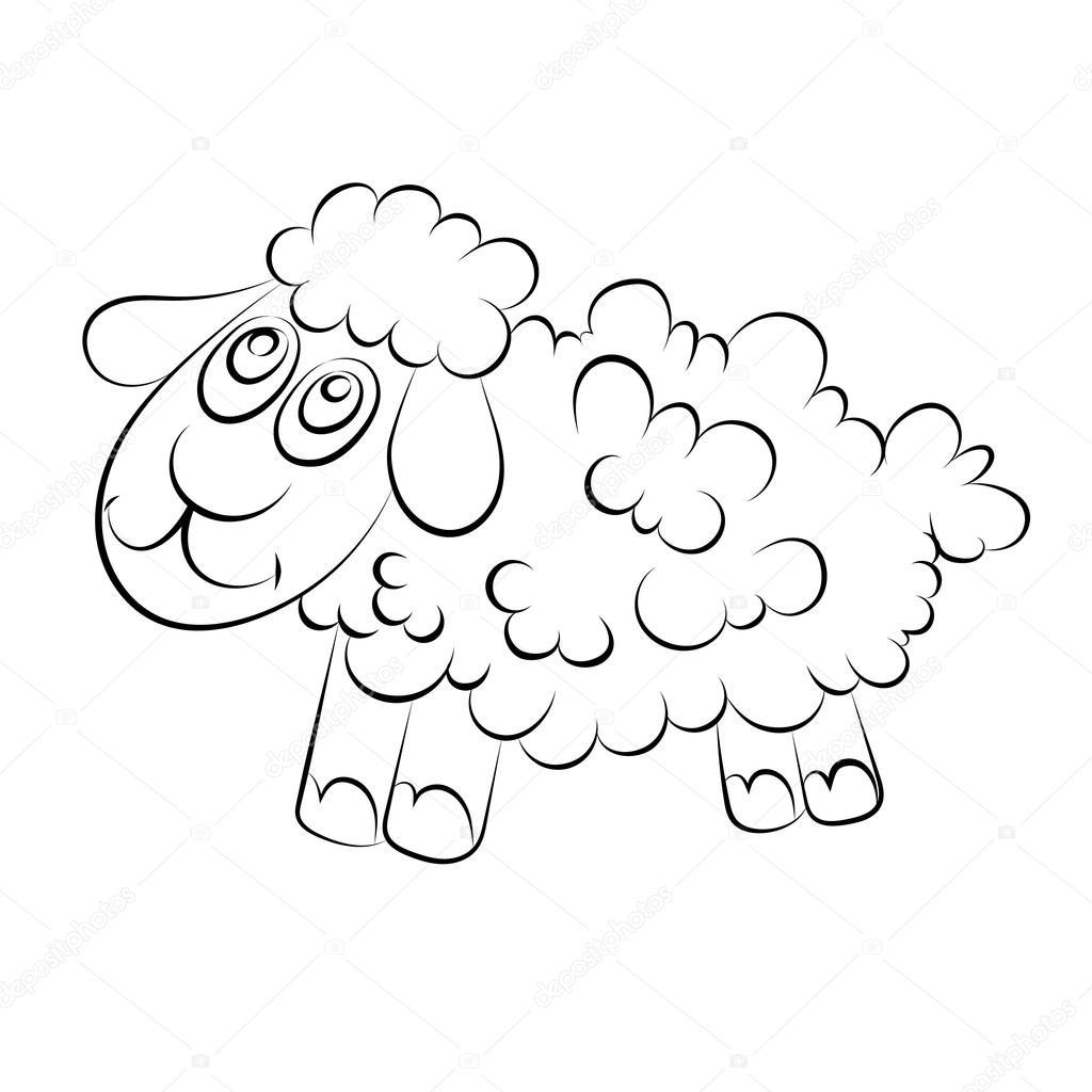 Neşeli Bir Kuzu çizimi Stok Vektör Richman21 97408992