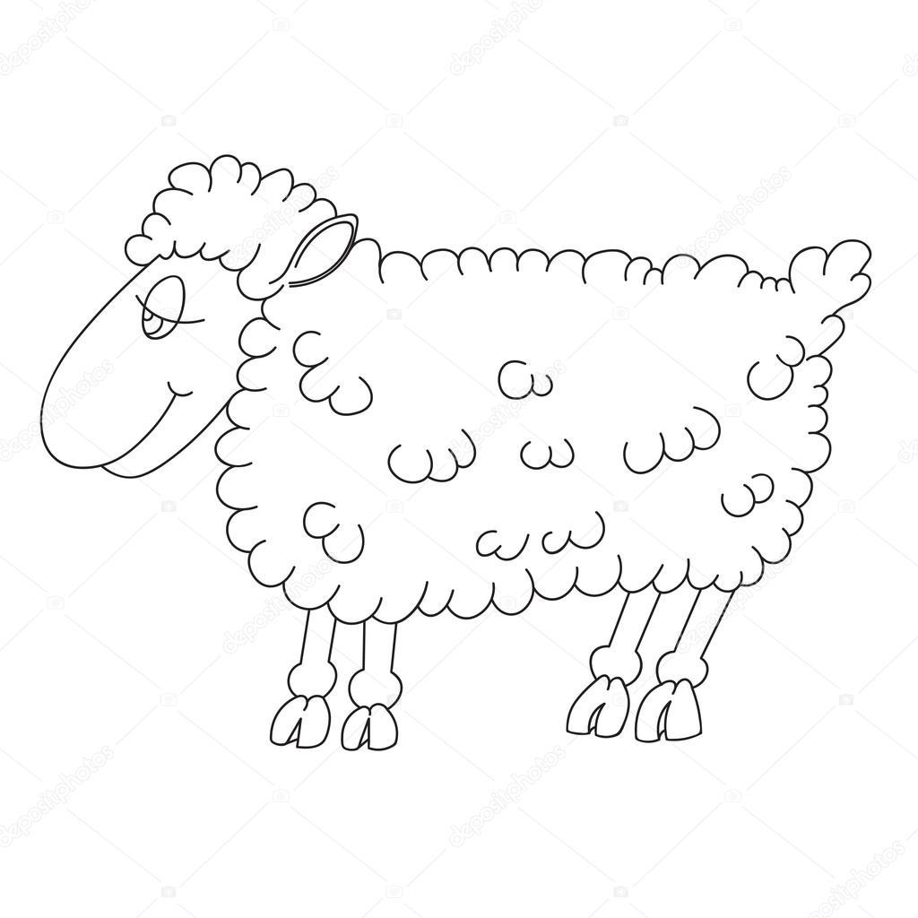 Bir Kuzu Kontur çizimi Stok Vektör Richman21 98271276