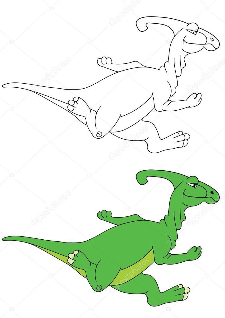 çalışan Parazaurolof Dinozor çizimi Stok Vektör Richman21 98271344