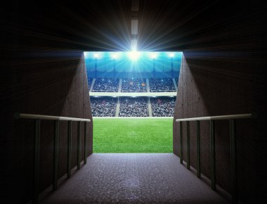 Soccer stadium tunnel
