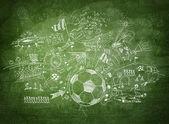 Fényképek Futball koncepciót fekete táblán
