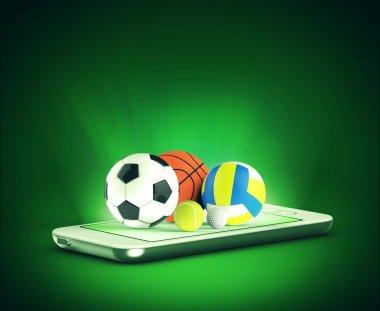 Sports balls on phone